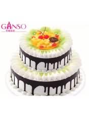 元祖双层蛋糕,规格:10+6寸,12+8寸
