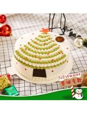 口味:鲜奶蛋糕,洋溢着浓浓圣诞节的气氛