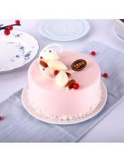 口味:鲜奶蛋糕,寓意良辰美景, 幸福的时刻
