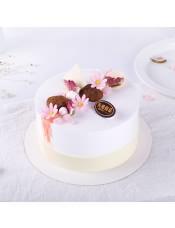 口味:�r奶蛋糕,寓意�\上添花, 日子一天比一天幸福