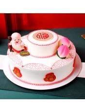 元祖祝�埘r奶蛋糕,14寸,16寸需提前7天�A�