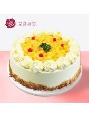 慕斯蛋糕:由黄桃果肉、芒果稀奶油、可可蛋糕、芒果慕斯等制作