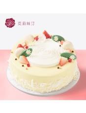 稀奶油蛋糕:由新�r水果、稀奶油、菠�}果肉、原味戚�L蛋糕等制作