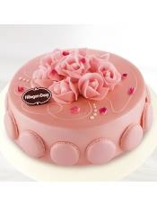 冰激凌蛋糕口味:香草味,草莓味。