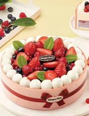 香草,蓝莓味,冰淇淋蛋糕