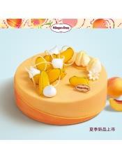 哈根达斯 夏季新品 炙爱黄桃黄桃酸奶冰淇淋蛋糕,口味:黄桃风味酸奶、原味风味酸奶