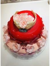 玫瑰馨语8寸+玫瑰女王6寸,10寸双层:玫瑰馨语10寸+玫瑰女王8寸