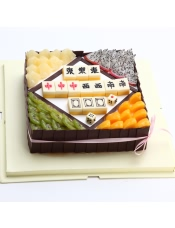 原材料:金钻鲜奶油、安佳淡奶、新鲜水果、杂果、巧克力