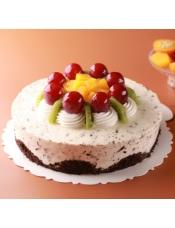 沙哈蛋糕加上来自瑞士安格拉斯巧克力的香草巧克力慕斯,多层次变化的口感。
