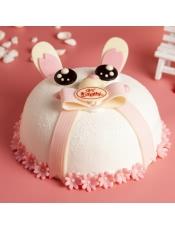 蛋糕图片:粉红兔