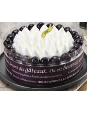 黑樱桃环绕着如雪般纯净的白,仿佛在诉说着一种永恒的美,三种不同口味夹层,简约而不简单.