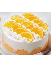 蛋糕图片:波浪层橙