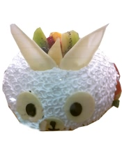 香草蛋糕 布丁 植物鲜奶油 草莓
