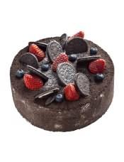 欧式蛋糕:原味蛋糕坯,奥利奥和巧克力扁桃仁脆,浓情酥脆,鲜草莓和原味绵软蛋糕坯,温柔适口。