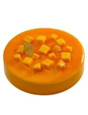 100%天然奶油(稀奶油)、芒果果溶、纯牛奶、可可粉、鲜芒果