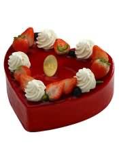 选用法国或英国天然稀奶油;雕琢成的心形蛋糕,适合热恋中的你。
