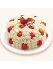 水嫩鲜美的草莓融入天然奶油,清爽间阵阵奶香是草莓的完美组合。