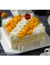 100%使用天然稀奶油的甜美,在金黄芒果热情熏染下别有一番风味