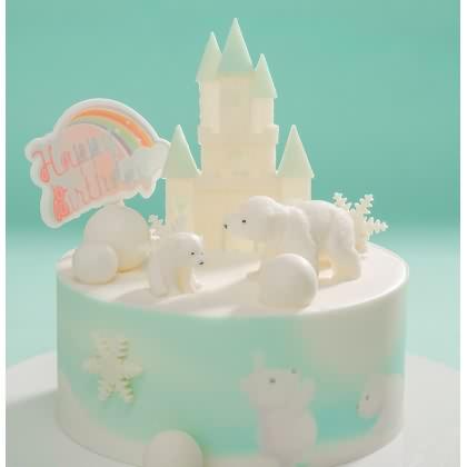味多美北极熊蛋糕图片