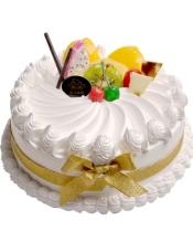 糕胚:原味胚 装饰:新鲜水果,柠檬果酱