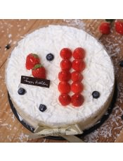 【罗莎纯真款】 生日蛋糕 新鲜现做 送货上门 ,请提前24小时付款预订