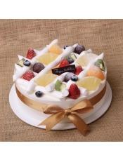 【罗莎笑口常开】 新鲜奶油水果 送货上门 生日蛋糕 新鲜现做,请提前24小时付款预订