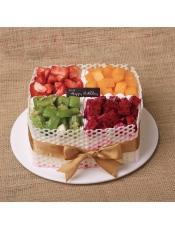 【罗莎大吉大利】 新鲜奶油水果超多 送货上门 生日蛋糕 新鲜现做,请提前24小时付款预订