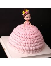 【�_莎芭比娃娃】 卡通可�坌迈r�F做 送�上�T �_莎生日蛋糕,�提前24小�r付款�A�