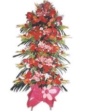 红掌9枝,粉香水百合8朵,白百合2朵,小鸟13枝,红粉