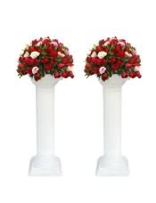 精品红玫瑰、粉色洋桔梗,搭配适量栀子叶间插,类型 :单个花篮