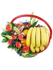 香蕉、鲜橙、葡萄等时令水果。