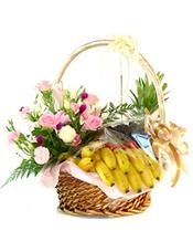 香蕉、葡萄、菠萝等时令水果。