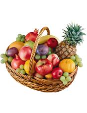 苹果、提子、石榴、桔子、菠萝、梨、香蕉等时令水果。