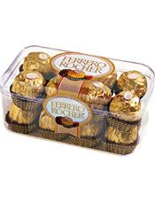 费列罗巧克力16粒装,净含量200G (需与鲜花一起配送)