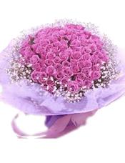 99朵紫色玫瑰、满天星