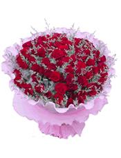 99支红玫瑰内围情人草