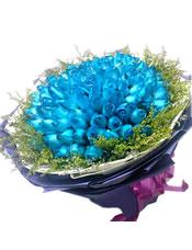 99只蓝玫瑰,黄莺草外围