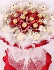 11颗正品费列罗巧克力+9只可爱小熊