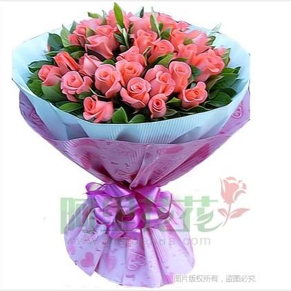 39枝玫瑰花/粉玫瑰