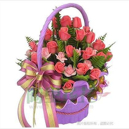 50枝玫瑰花/粉玫瑰