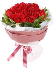 精品卡罗拉玫瑰33枝,栀子叶环绕。