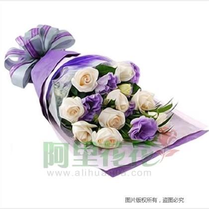 10枝玫瑰花/白玫瑰