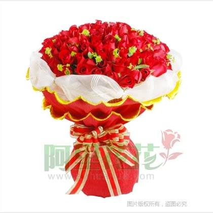 玫瑰花圆形怎么包装图解步骤
