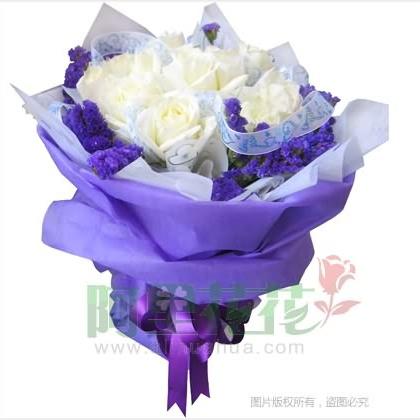 09枝玫瑰花/白玫瑰