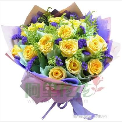 19枝玫瑰花/黄玫瑰