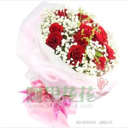 12枝玫瑰花/红玫瑰