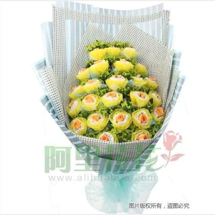 24枝玫瑰花/香��玫瑰