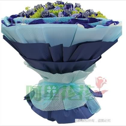 21枝玫瑰花/蓝玫瑰