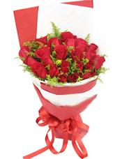 29枝红玫瑰,黄英间插