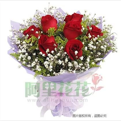 09枝玫瑰花/红玫瑰图片
